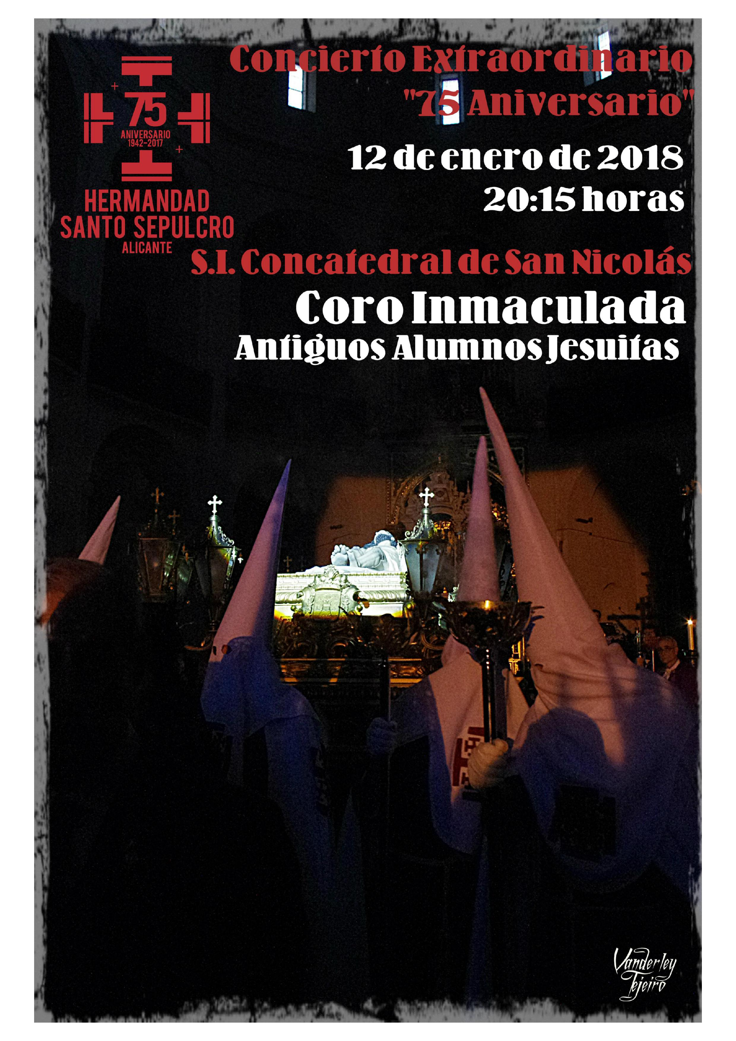 Concierto Extraordinario 75 Aniversario Re-fundación Hermandad Santo Sepulcro.