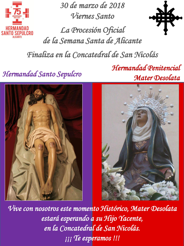 30 De Marzo De 2018- Acto Extraordinario De Finalización Procesión Oficial Semana Santa De Alicante