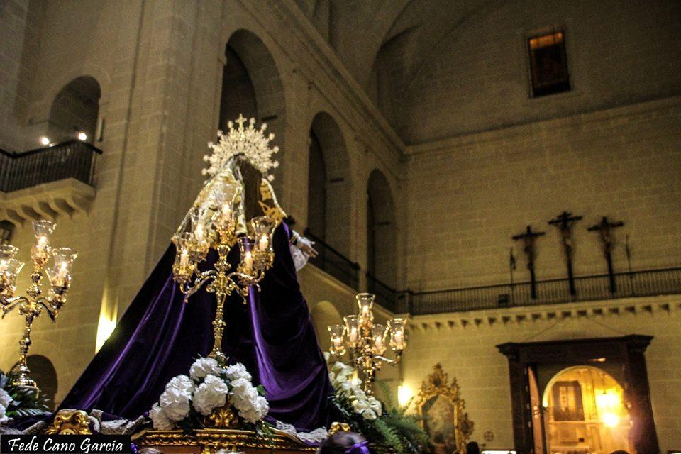 2018-03-24 Hermandad Nuestro Padre Jesús Alicante, M.A. Rodas 4, Stma. Virgen De Las Penas Entra En Concatedral