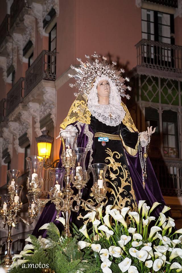 24 De Marzo De 2018. Hermandad Nuestro Padre Jesús Alicante, M.A. Rodas 2, Encuentro. Llega Stma. Virgen De Las Penas