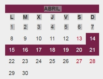 Screenshot Of Fechas Semana Santa De 2019 – Calendarios Ideal